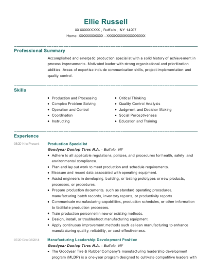 uscad production specialist resume sample