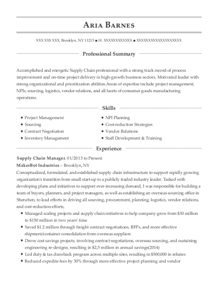 best supply chain manager resumes resumehelp