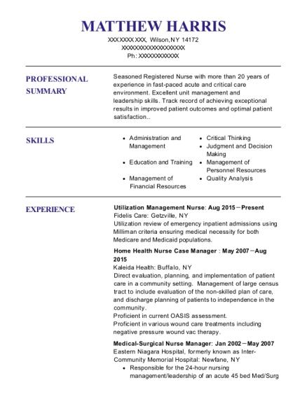 ingenesis utilization management nurse resume sample