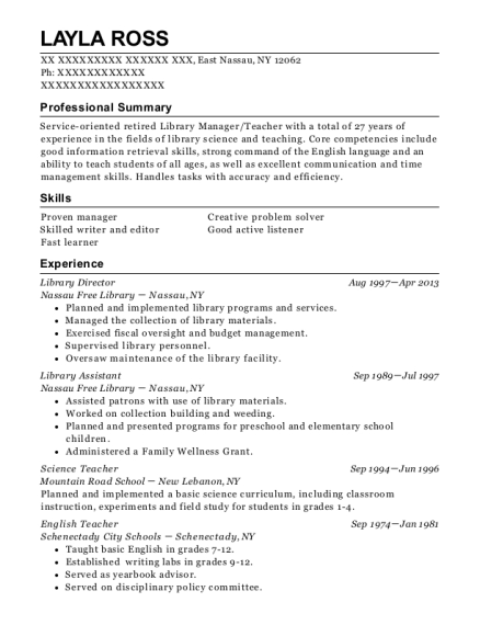 Nyc public library resume help