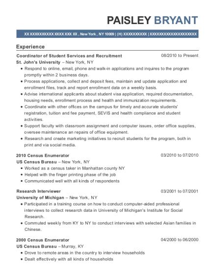 best 2010 census enumerator resumes resumehelp