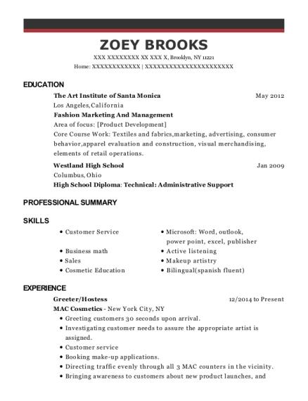 Best Makeup Artistcolor Consultant Resumes ResumeHelp