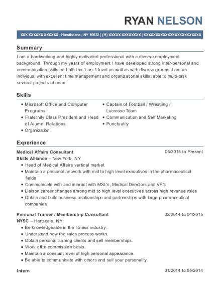 skills alliance medical affairs consultant resume sample hawthorne