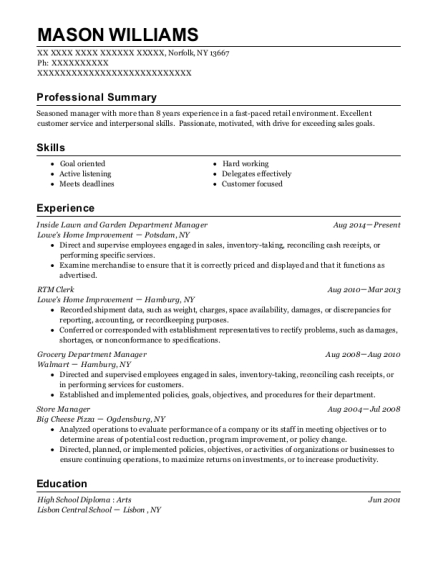 lowes resume