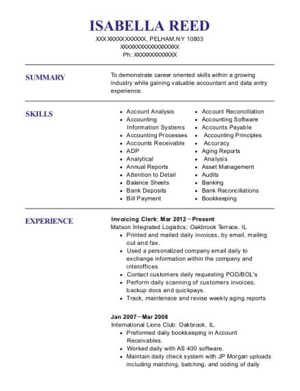 Best Invoicing Clerk Resumes | ResumeHelp