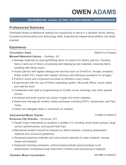 best instrumental music teacher resumes resumehelp