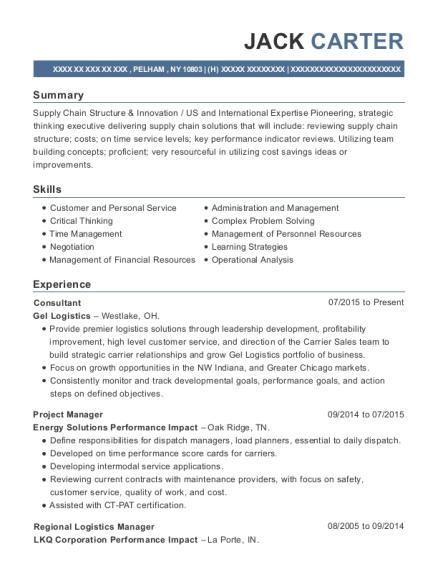 Best Regional Logistics Manager Resumes | ResumeHelp