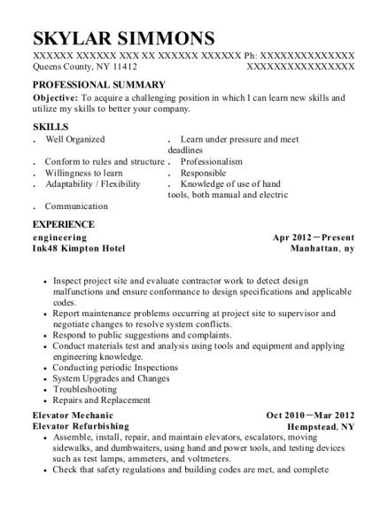 View Resume. Engineering