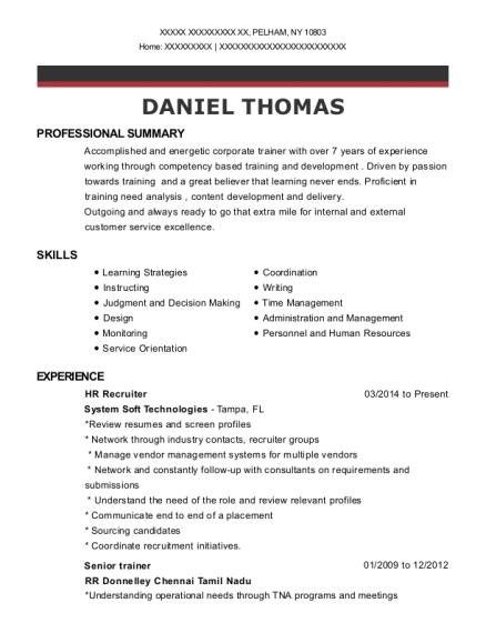 best hr recruiter resumes resumehelp