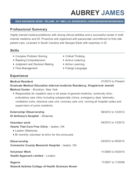 Graduate Medical Education Internal Medicine Residency, Kingsbrook ...