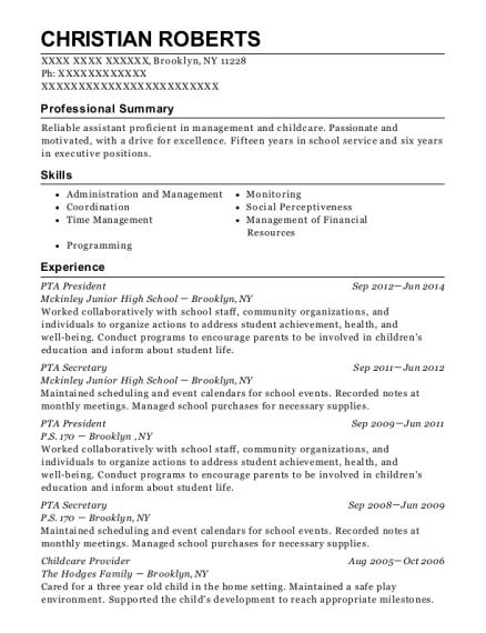 best pta vice president resumes resumehelp