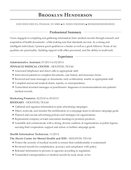 Health Unit Coordinator , Health Information Technician. Customize Resume ·  View Resume