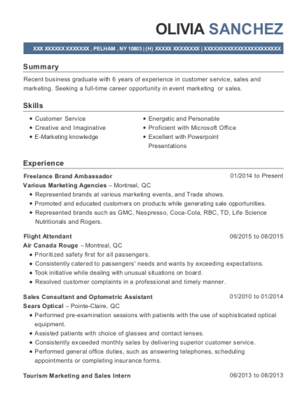 best freelance brand ambassador resumes resumehelp