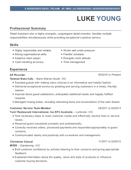 best all rounder resumes