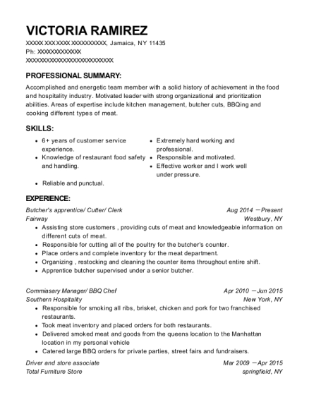 Best Commiasary Manager Resumes   ResumeHelp