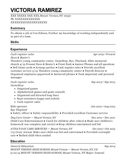 view resume cash register sales
