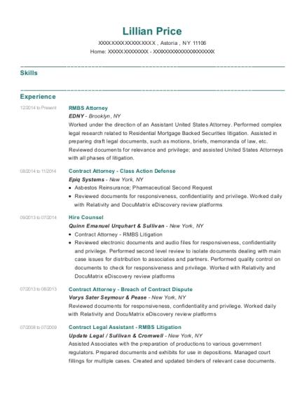 edny rmbs attorney resume sample astoria new york resumehelp
