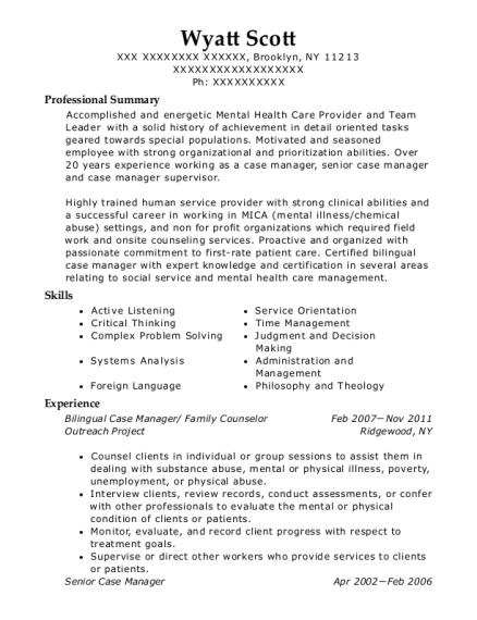 Best Certified Case Manager Resumes | ResumeHelp