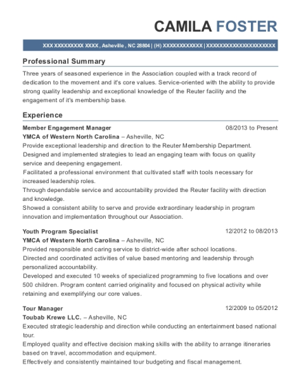 Camila Foster  Program Specialist Resume