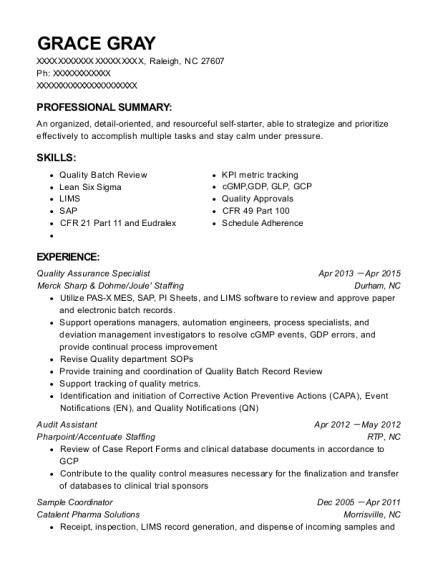 Assurance Quality Group Aqg Quality Control Inspector Resume Sample - Pelham New York | ResumeHelp
