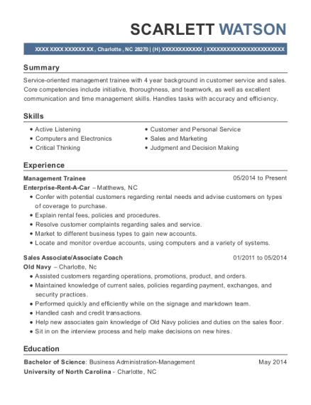 Best Management Trainee Resumes Resumehelp