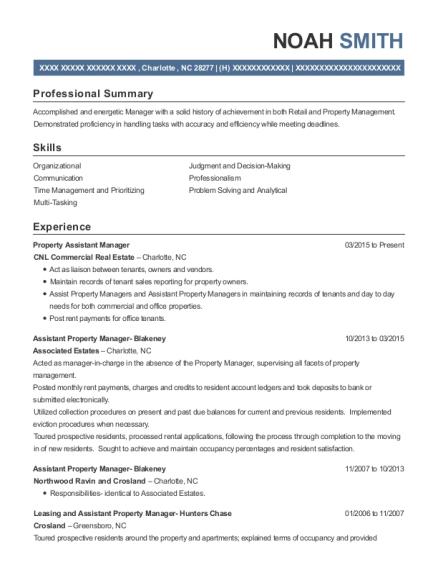 Best Property Assistant Manager Resumes | ResumeHelp