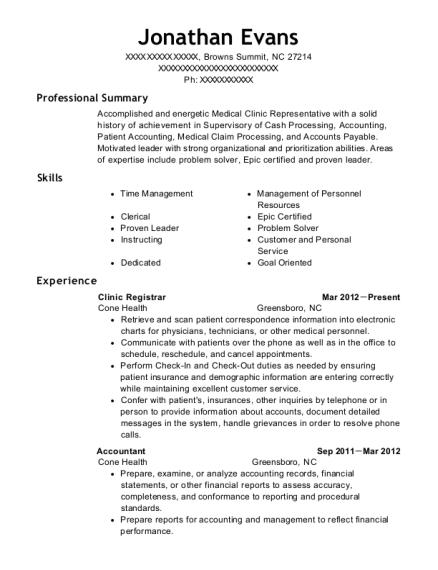 best clinic registrar resumes resumehelp