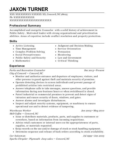 Housing specialist resume