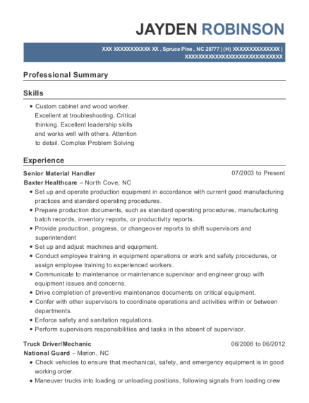 view resume - Sample Resume Of Driver Mechanic