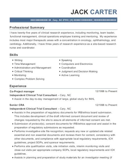 best study coordinator resumes resumehelp