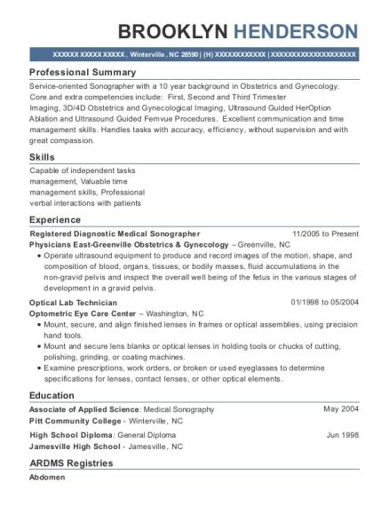 best registered diagnostic medical sonographer resumes resumehelp
