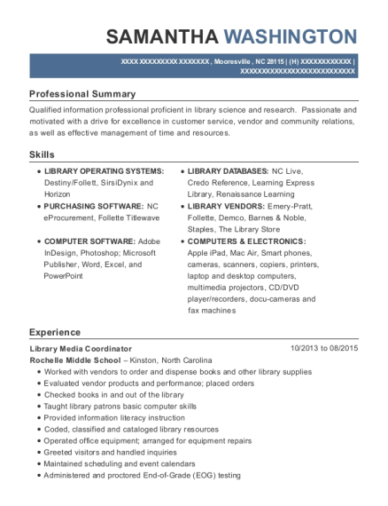 Resume help library