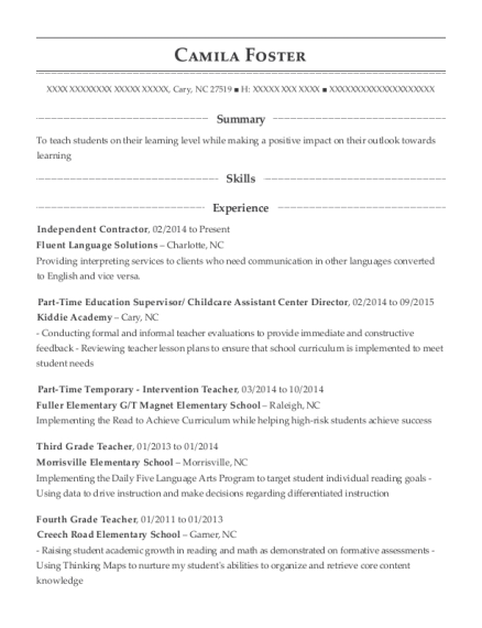 Best Lead Fourth Grade Math Intervention Teacher Resumes Resumehelp