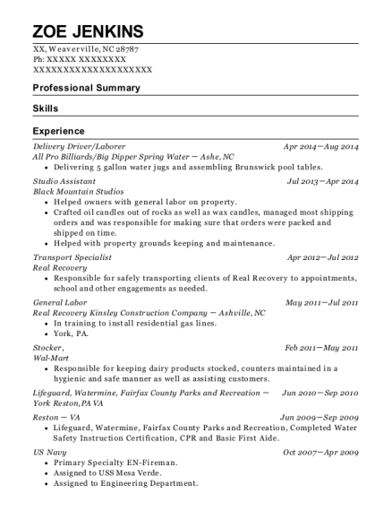 Awesome Transport Specialist , CENA. Customize Resume · View Resume