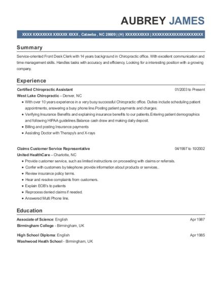 best certified chiropractic assistant resumes resumehelp