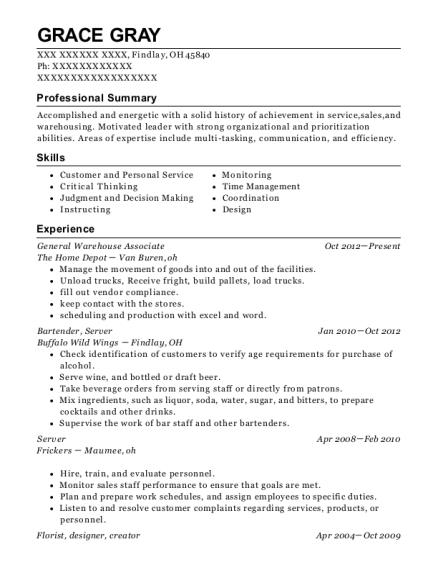 view resume general warehouse associate