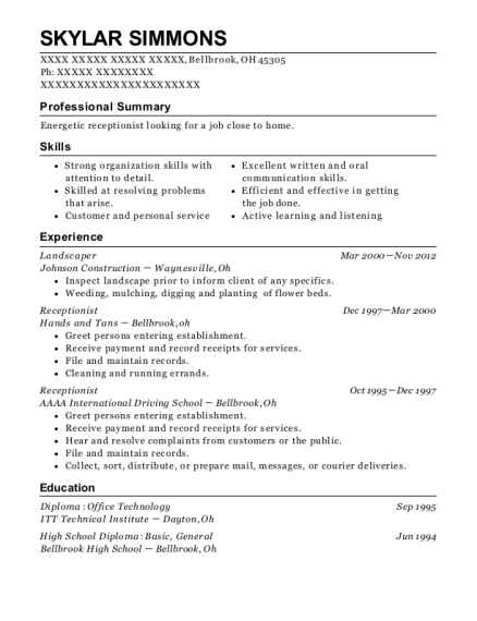 Ditch digger resume