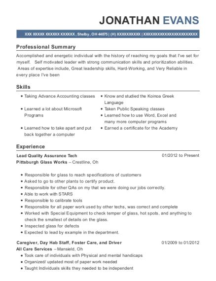 Best Spot Welder Resumes | ResumeHelp