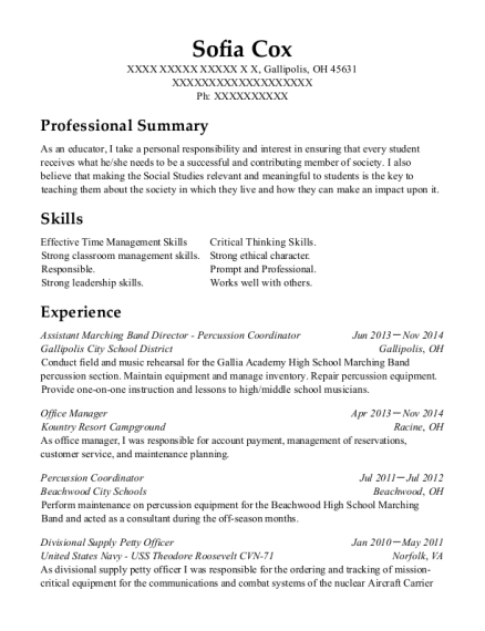 Enchanting Campground Management Resume Ornament - Best Resume ...