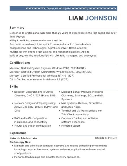 best senior network engineer resumes resumehelp