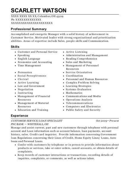 Fulton Mortgage Company Residential Mortgage Loan Officer Resume