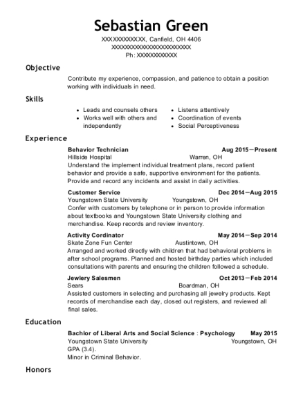 Childcare Workers , Behavior Technician. Customize Resume · View Resume