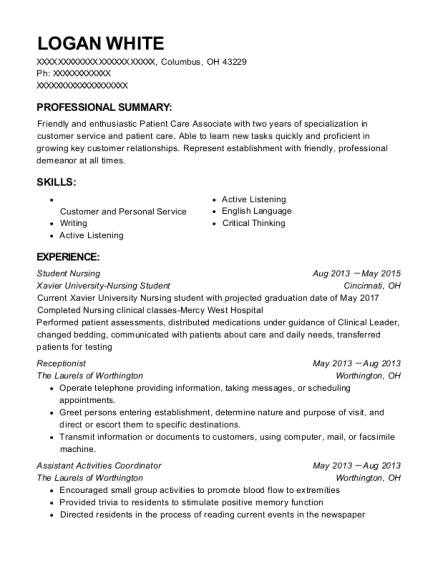 View Resume Student Nursing