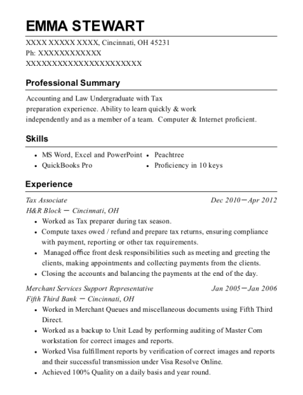 Best Tax Associate Resumes