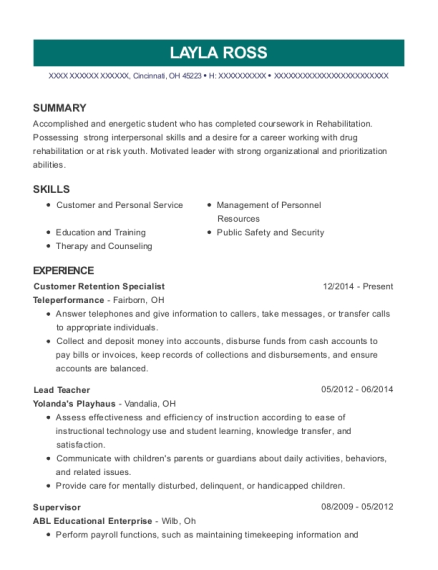 Layla Ross  Security Specialist Resume