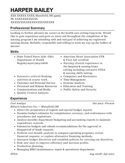 Best Cost Analyst Resumes | ResumeHelp