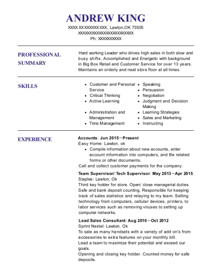 Lowes Flooring Sales Specialist Resume Sample Conroe
