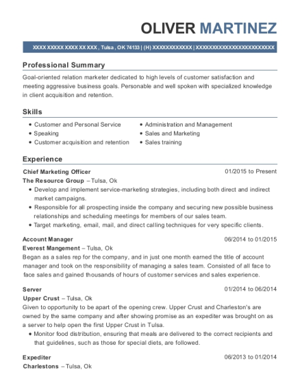 Chief Marketing Officer Resume Best Chief Marketing Officer Resumes  Resumehelp