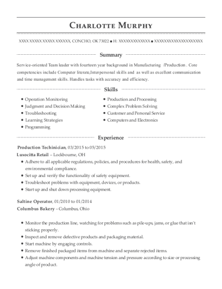 Server , Clean Room Technician. Customize Resume · View Resume