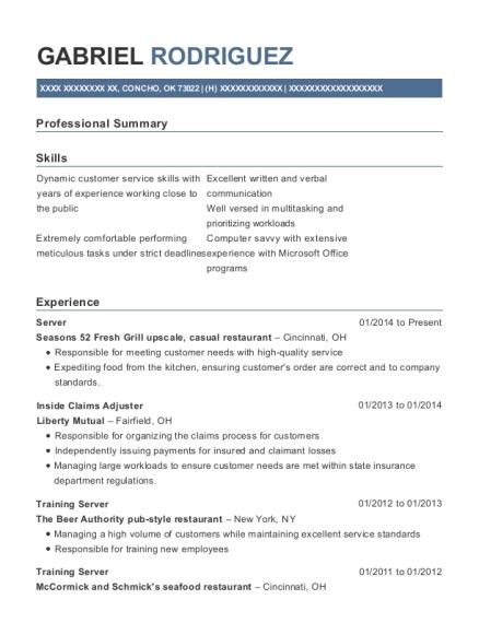 best inside claims adjuster resumes resumehelp